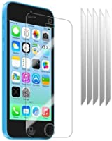 teKKno® **5 Pack** LCD Screen Protectors Guards And Cleaning Cloth For The Apple iPhone 5c