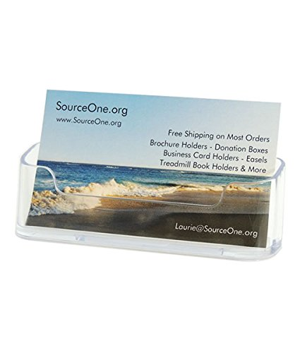 Source One 10 pack Premium Clear Business Card Holders Stands (Business Card Stand Holder compare prices)