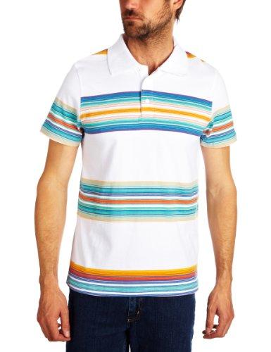 Quiksilver Beacons Polo Men's T-Shirt Multico White Small