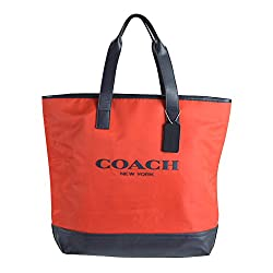 Coach Men's Mercer Nylon Travel Carryall Tote 71678 Coral