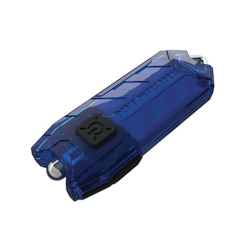 NiteCore Tube Tiny Keychain USB Rechargeable 45 lm LED Flashlight, Blue