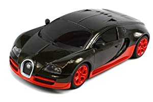 Diecast Bugatti Veyron Super Sport Electric RC Car Full Metal Body 1:24 Scale Ready To Run (Colors May Vary) from Velocity Toys