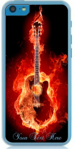 Iphone 5C Accoustic Guitar On Fire For Music Teacher, Student, Player Or Just A Fan