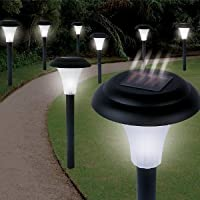 Garden Creations JB5629 Solar-Powered LED Accent Light, Set of 8 by Garden Creations