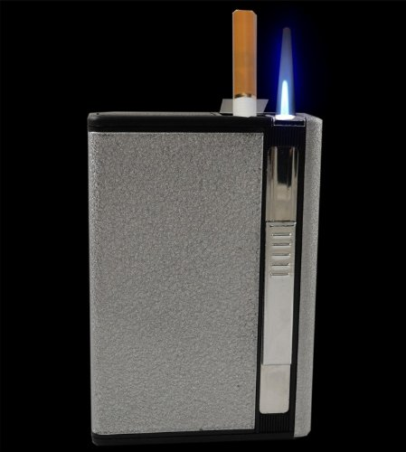 Auto Loading Cigarette Case With Built In Torch Lighter (For King Size Cigarettes) #Cl101