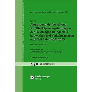Abgrenzung der Vergütung von Objektplanungsleistungen nach Teil 3 der HOAI 2009: AHO Heft 20 (Schriftenreihe des AHO)