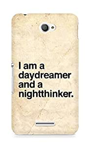 AMEZ daydreamer and night thinker Back Cover For Sony Xperia E4