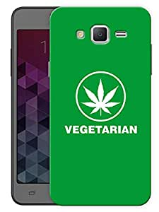 "Humor Gang Grass Vegetarian Printed Designer Mobile Back Cover For ""Samsung Galaxy On5"" (3D, Matte, Premium Quality Snap On Case)"
