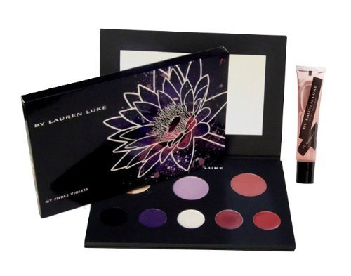 Lauren Luke Lauren Luke Full Face Makeup Palette And My Glossy Lips, Ll801-04 My Fierce Violets, 11.4 Ounce
