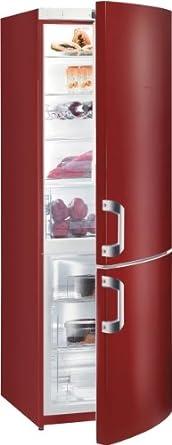 Gorenje RK61821R Kühl-Gefrier-Kombination / A++ / Kühlteil: 230 L / Gefrierteil: 92 L / vulcano red / Cool`n`fresh Schublade / Innenbeleuchtung / Eco Top Ten