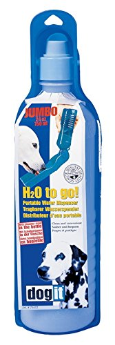 Artikelbild: Dogit 73472 H2O to go - tragbarer Wasserspender für Hunde 750 ml