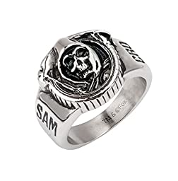 Inox Officially Licensed Sons of Anarchy Stainless Steel Grim Reaper Ring Sz 13