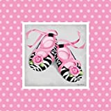 Wild Child Ballet Slipper by Middlebrook, Kathy- Fine Art Print on CANVAS : 21 x 21 Inches