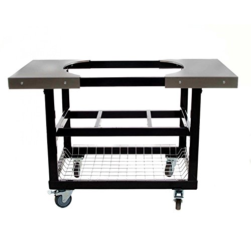 Best Price Primo 310 Cart With Basket and Side Tables With Casters for Primo Oval XL Grill