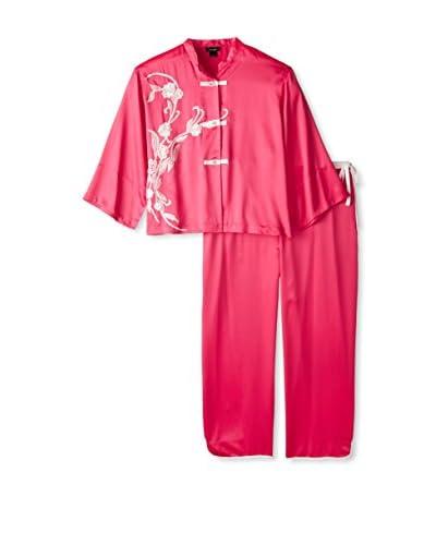 Natori Women's Satin Embroidered Pajama Set