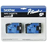 2-pack TC-10 1/2in Black On Clear Tape for Brother PT-6 8 10 12 15 20 150 170