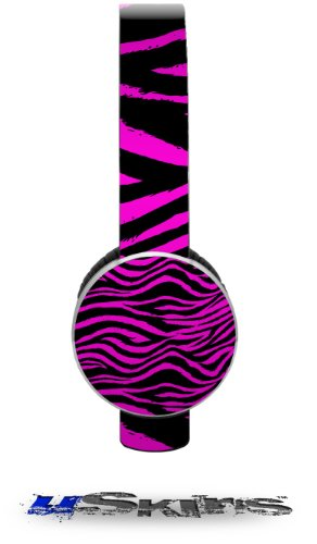Pink Zebra Decal Style Skin (Fits Sol Republic Tracks Headphones - Headphones Not Included)
