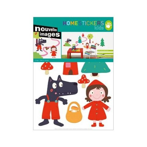 Home Stickers Host 277 Little Red Riding Hood Decorative Wall Stickers front-258630