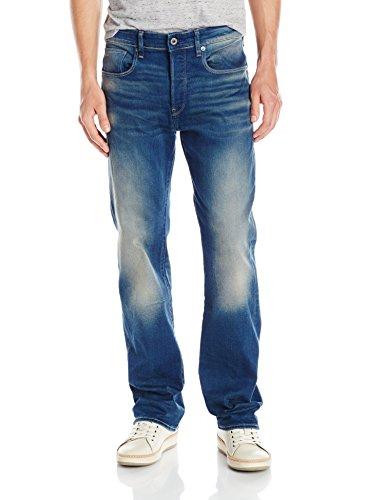 G-Star - 3301, Jeans Uomo, Blu (Medium Aged), W33/L34 (Tallia Produttore: W33/L34)