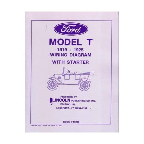 Amazon.com: 1919 1922 1923 1924 1925 Ford Model T Wiring Diagrams