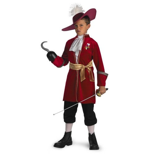 Child's Captain Hook Costume Size Small (4-6)