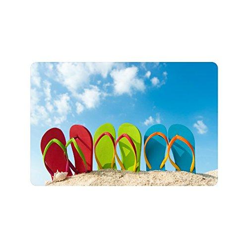 Flip-Flops-Doormat-Entrance-Mat-Floor-Mat-Rug-IndoorOutdoorFront-DoorBathroom-Mats-Rubber-Non-Slip-Size-236-x-157-inches