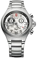 Victorinox Swiss Army Silver Stainless Band Silver Dial - Men's Watch 241331