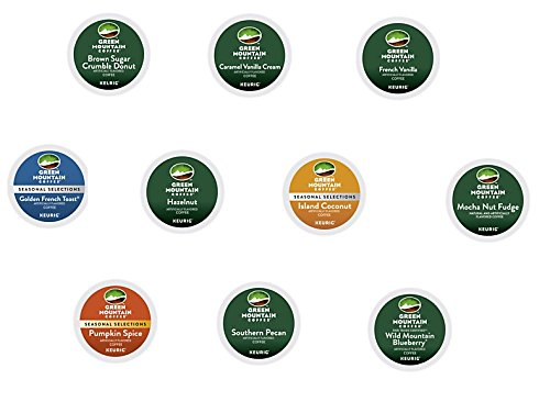 30 Count - Green Mountain Variety Flavored Coffee K-Cup Packs For Keurig K Cup Brewers and 2.0 Brewers (10 flavors, 3 K-Cups each) (Keurig K Cup Coffee Sampler compare prices)