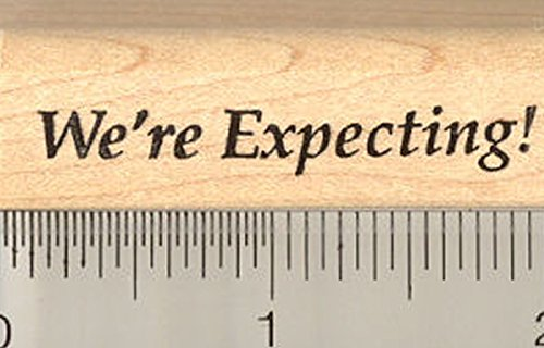 Baby Announcement Rubber Stamp, We'Re Expecting front-74790