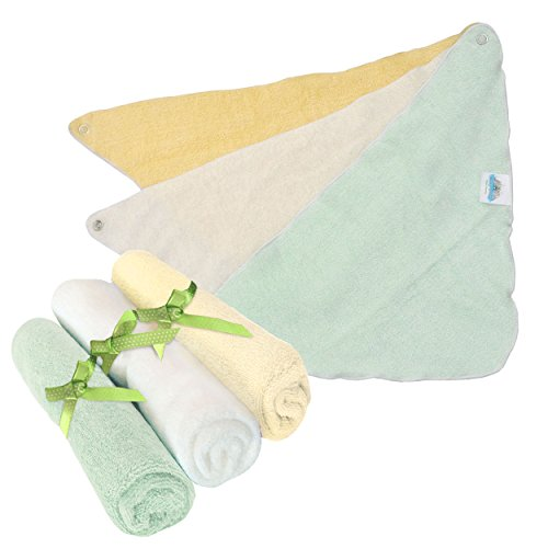 Brooklyn Bamboo Bamboo Bandana Baby Bibs 3 Pack Extra SOFT Boys/Girls ORGANIC Perfect For Baby Registry And Gift Basket Sets - 1