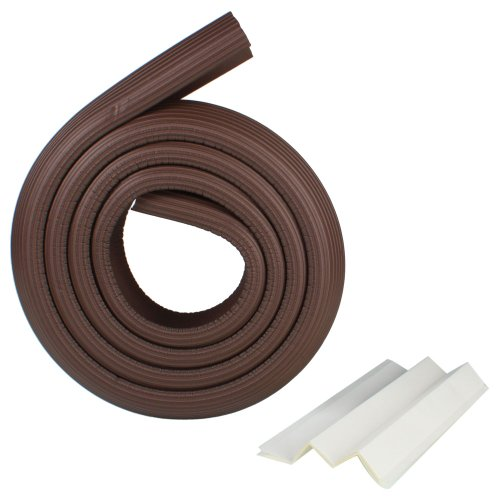 2M Nbr Soft Baby Infant Safe Cushion Protector Table Desk Edge Strip Prevent Kids Injuries Safety Protector Free Double Sided Tape (Coffee) front-621008