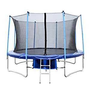 FoxHunter 14FT Trampoline Set Max Load 200kg Includes Safety Net Enclosure worth �49.99 All Weather Cover worth �19.99 And Ladder worth �19.99 TUV GS EN-71 CE Certified RRP �499.99 Total Saving �280 Off the Package