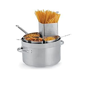 Vollrath 3158 Centurion Stainless Steel 4-Segment Pasta Insert for Sauce Pot, 5-1/2-Quart