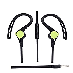 Hello Zone Sporty look trendy design Headset Handsfree Headphone Earphone with Mic 3.5 MM Jack for Lava Iris X1 Atom S -Black