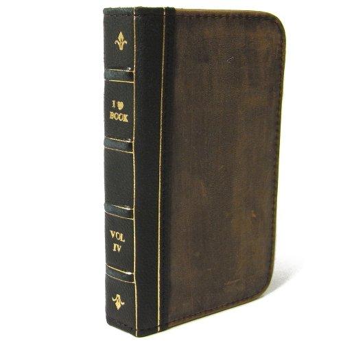 古い洋書のようなiPhone 4/4S ケース Bookケース for iPhone 4/4S ブラック 黒