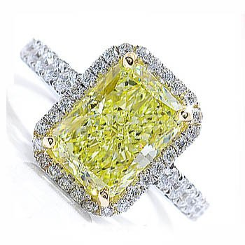 SI 1.68 ct Yellow Diamond Engagement Ring 14K