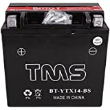 TMS® Ytx14-bs Utx14 Gtx14-bs Atv Quad Motorcycle Scooter Snowmobile Utility Vehicle Battery Honda Yamaha Kawasaki Suzuki BMW Ducati Triumph