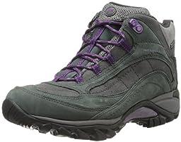 Merrell Women\'s Siren Waterproof Mid Hiking Boot,Granite/Purple,7.5 M US