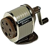 Sanford® Giant Table or Wall-Mount Manual Pencil Sharpener, Gray/Tan