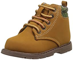 Natural Steps Grove Lace Up Ankle Boot (Infant/Toddler/Little Kid), Wheat Camo, 7 M US Toddler