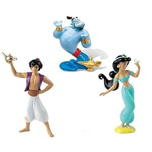 Aladdin, Jasmine and Genie figures from Disney's Aladdin by BULLYLAND