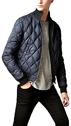 Burberry Black Mens Reversible Cotton Gabardine Down Jacket