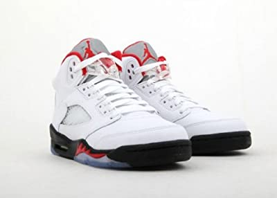 Air Jordan 5 Retro (GS) 2013 White/Fire Red-Black