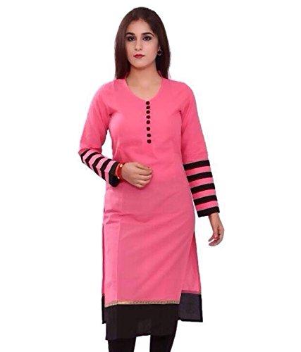 Z Women's Cotton Kurta (zu03_Pink_42)