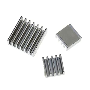 Kootek Aluminum Heatsink set for Raspberry Pi - Set of 3 Heat Sinks