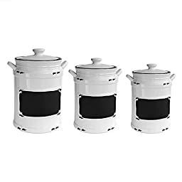 American Atelier Vintage 3 Piece Canister Set, Black by Jay Companies
