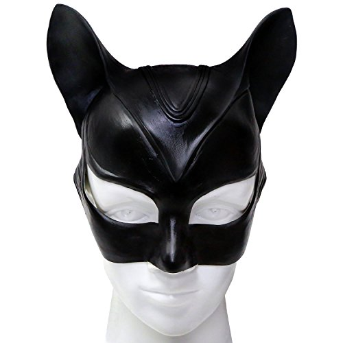 XCOSER Adult Catwoman Mask and Ears Helmet Costume Accessories for Halloween