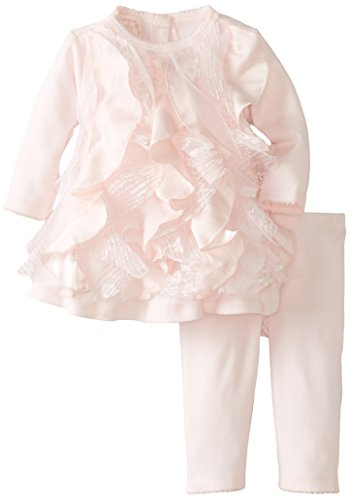 Biscotti Baby-Girls Newborn Ma Cherie Amour Dress And Legging Set, Pink, New Born