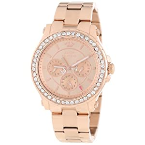 Juicy Couture Women's 1901050 Pedigree Rose Gold Plated Bracelet Watch