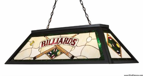 Landmark 70083 4 Tiffany Game Room Lighting 4 Light Billiard Light 18 Inch Tiffany Bronze Metal